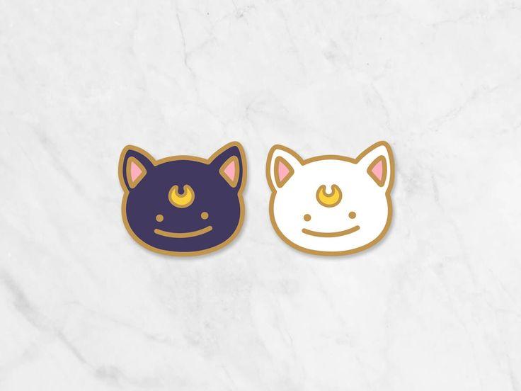 Luna & Artemis Enamel Pin – Ditto x Magical Girl Collab
