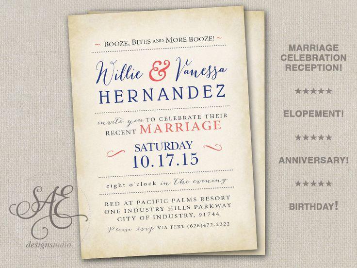 Reception Invitation Wording After Destination Wedding: 17 Best Ideas About Elopement Reception On Pinterest