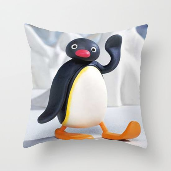 Throw pillow  Pinguthrow pillow best design  #Pingu #Pinguthrowpillow #throwpillow #throwpillowcase #birthdaygift #Christmasgift #homedecoration #bedroomdecoration #society6
