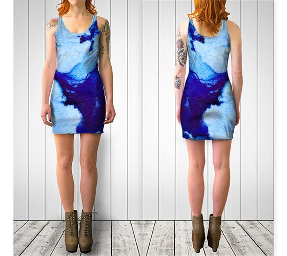 "Bodycon dress ""Blue Abstract Marble - Bodycon Dress"" by Jenny Mhairi"