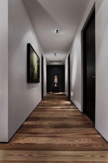 Premier Montreal Penthouse Contemporary Interior, no skirting, XL doors