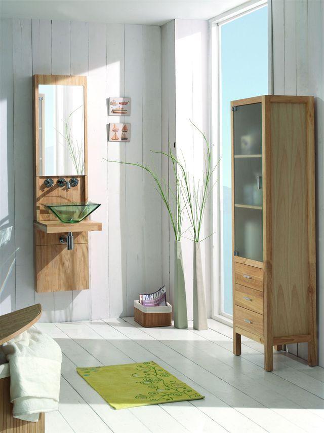 salle de bains bois des photos dinspiration - Salle De Bain Bois Et Vert