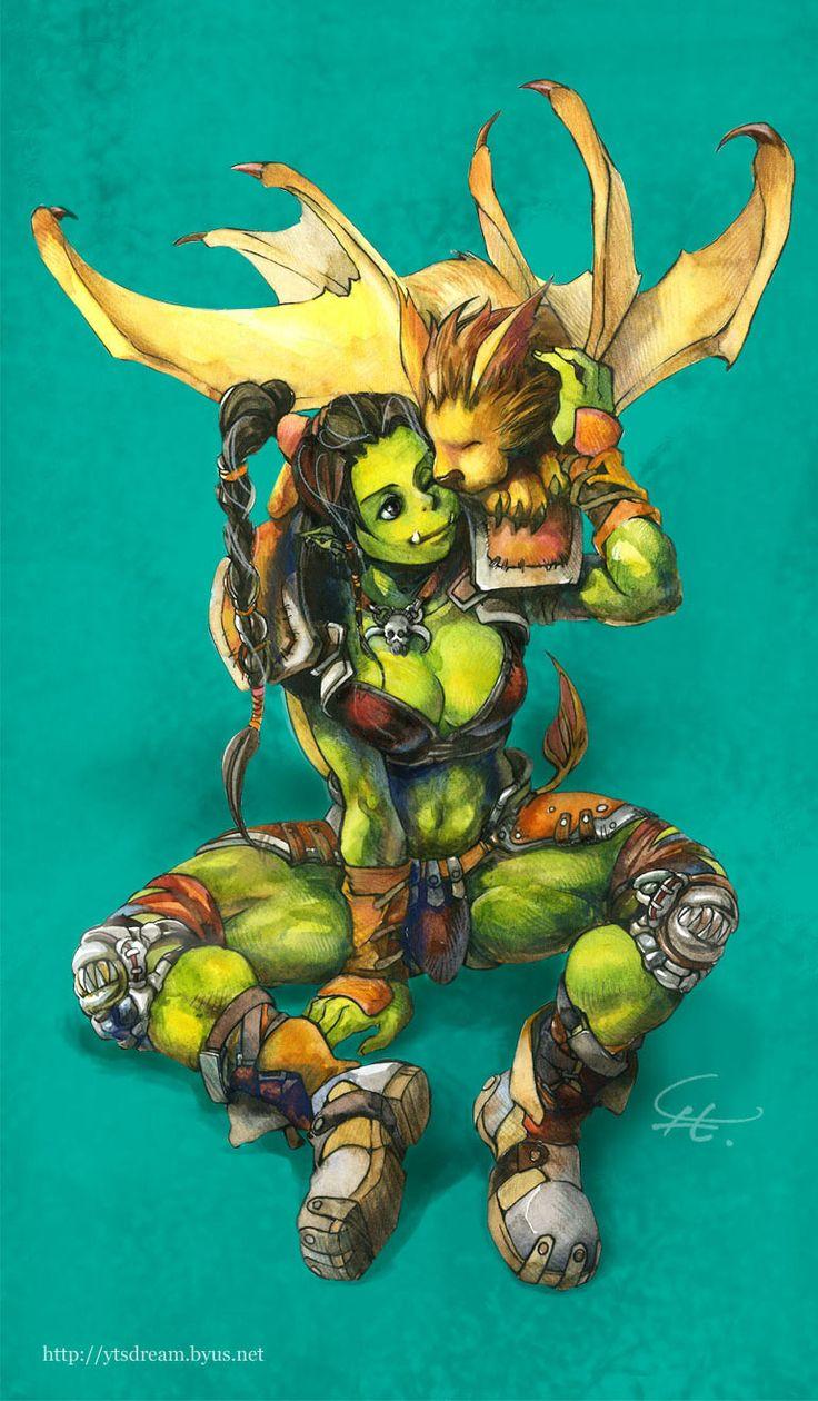 Female Orc, Wind Rider, Horde