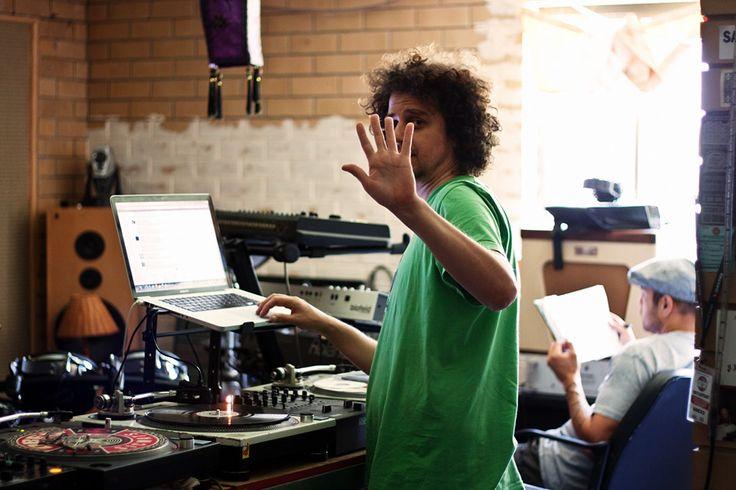 Dee Jaye Katch and Hau Latukefu Working on Tracks for Resin Dogs 2011