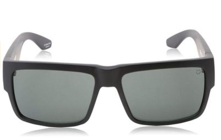New Spy Sunglasses Matte Black Frame Grey Green Lens Men Fashion Eyewear Outdoor #Spy #Cyrus