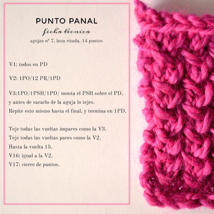 38 best tutoriales de punto images on pinterest knit - Puntos para tejer ...
