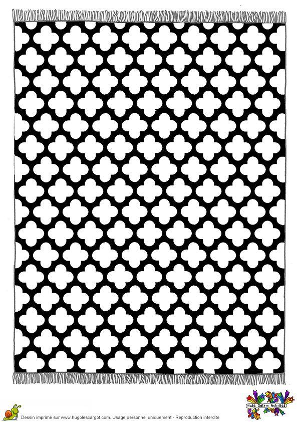 Les 18 meilleures images du tableau coloriages tapis du - Tapis forme geometrique ...