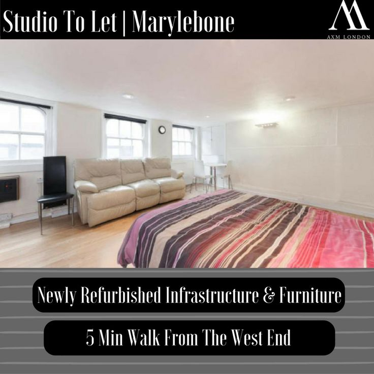 Welcome to Marleybone,   Here we  have a affordable studio Flat is perfect for couples courtesy of the capacious open plan living area allowing complete freedom yet maintaining the convenience & intimacy.  http://axmlondon.com/propertydetails.php?property_id=101366003471  #propertytorent #London #Marylebone #Realestate #luxury #interiordesign #house #home #family #love