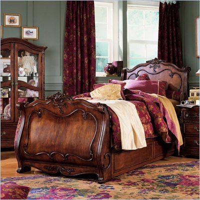 Lea Jessica Mcclintock Heirloom Twin Or Full Kids Sleigh Bed 2 Piece Bedroom Set