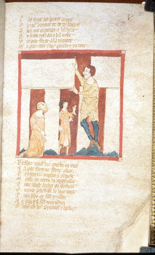 Miniature of Merlin building Stonehenge, from Wace, 'Roman de Brut', England, second quarter of the 14th century, Egerton MS 3028, f. 30r The British Library has a particular interest in Stonehenge, because it possesses the earliest known depiction of the monument, from a manuscript of Wace's Roman de Brut, made in the second quarter of the fourteenth century. The mythical figure of Merlin is shown assembling one of the famous sarsen trilithons by placing a lintel on top of two standing…