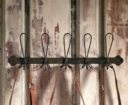 Rustic Black Metal Coat Rack with Five Wire Hooks - Marmalade Mercantile