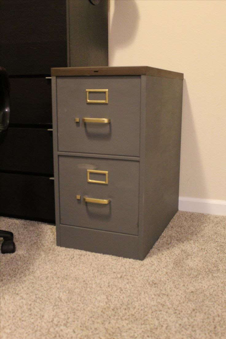 Make over a file cabinet with items you have on hand!