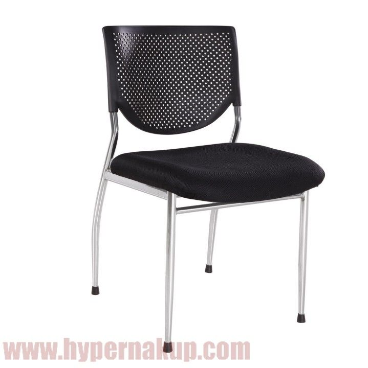 Stolička, plast+látka+kov, čierna, ZARINA