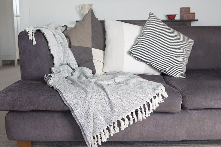 Ottoloom Lucerne Throw. Hand loomed with 100% GOTS certified organic cotton.