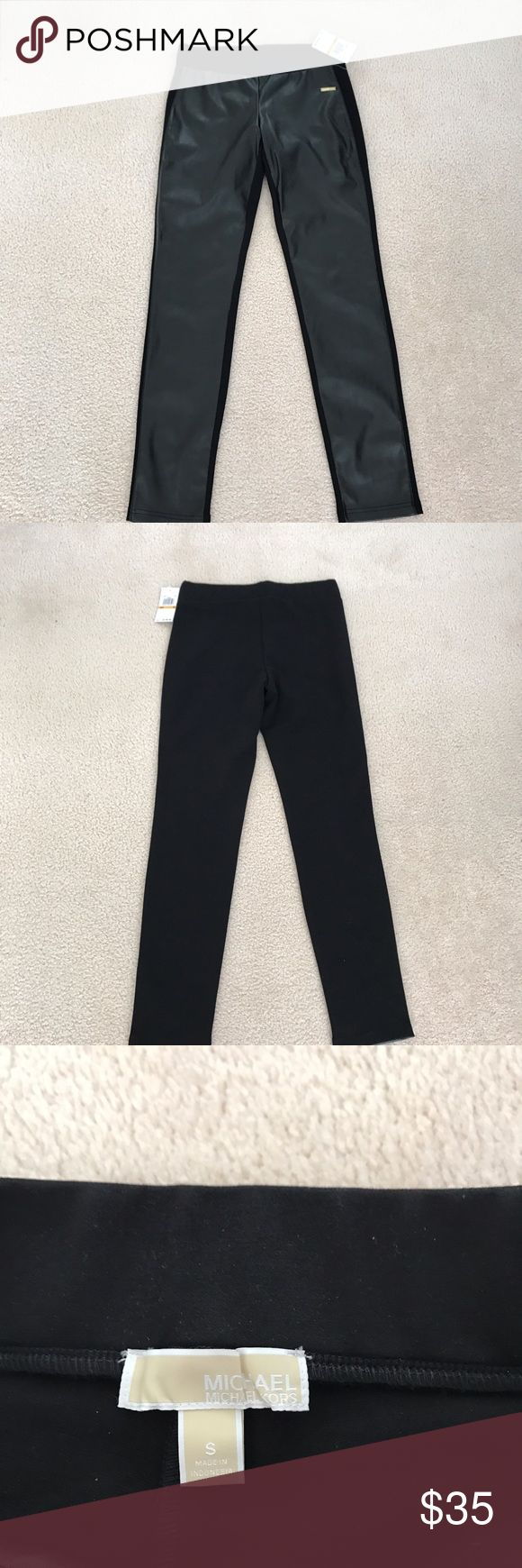 New Michael Kors pleather and cotton leggings - S New Michael Kors man made pleather and cotton leggings size S. Michael Kors Other