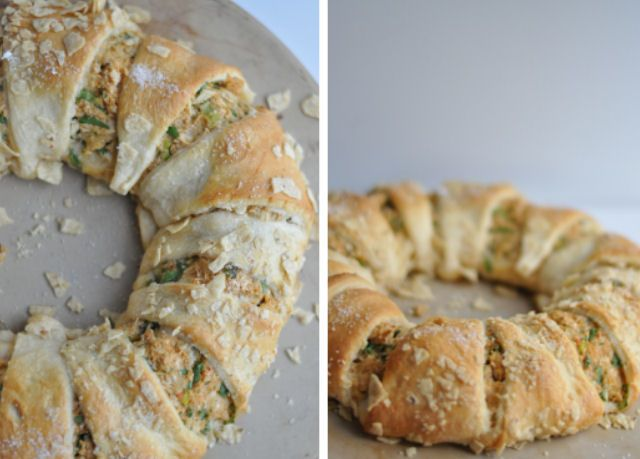 Creamy Chicken Crescent Ring......I think this would be a great way to use up extra chicken or turkey. Have to keep this in mind for after holidays:)
