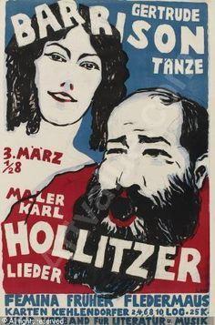 Gertrude Barrison and husband Karl Hollitzer on poster.