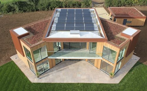 UK's First Solar Powered New Build Home, Great Glen, Leicestershire