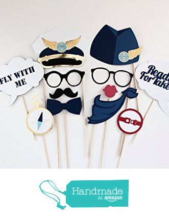 AIRPLANE, PILOT, AVIATION, PANAM INSPIRED Photo Booth Prop Set from Paper & Pancakes http://www.amazon.com/dp/B01CPX49ZQ/ref=hnd_sw_r_pi_dp_2CC8wb16QWD9D #handmadeatamazon