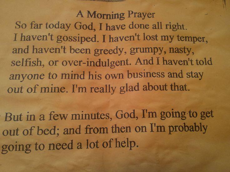 A morning prayer <3 I love this