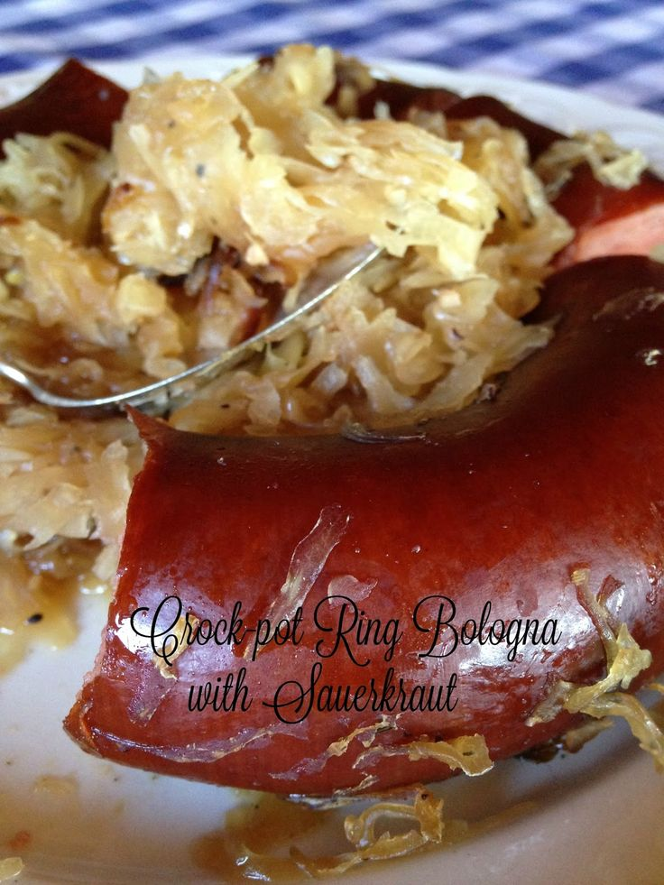 Turnips 2 Tangerines: Crock-pot Ring Bologna with Sauerkraut, Plus How to make Sauerkraut