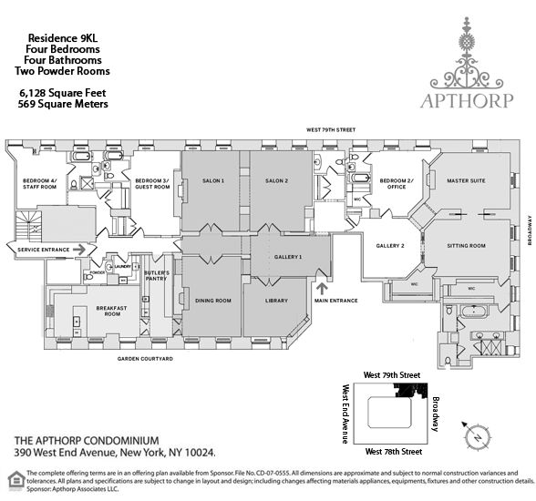 4 Bedroom Apartments Nyc: Floorplans For The Apthorp At 390