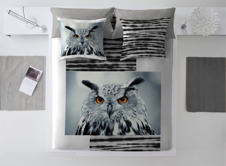 Komplet pościeli Winter Owl #zima #winter #interior #dom #home #wnetrze #dekoracje #decoration