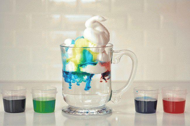 Experimente Kinder Becher Wasser Lebensmittelfarbe Glas