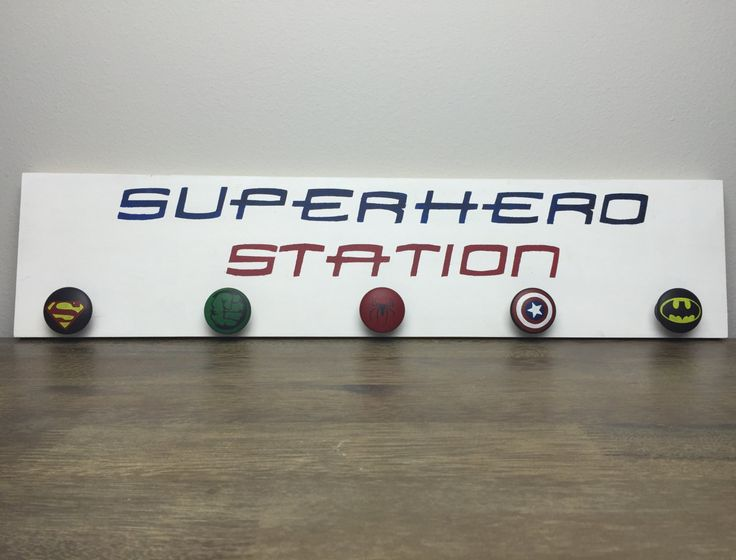 Superhero Wooden Sign, Boys Room Sign, Wooden Signs for Boys, Boys Room Decor, Superhero Coat Rack by SugarMapleLane on Etsy