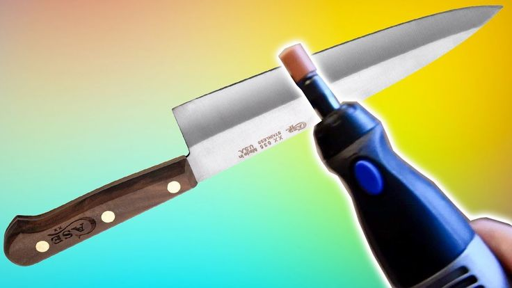 Sharpen kitchen knife with Dremel Tool & Grinding Stone Bit