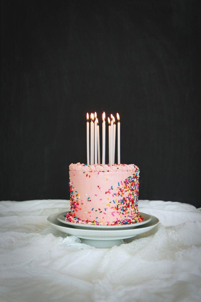 Malted Milk Birthday Cake | La Pêche Fraîche //