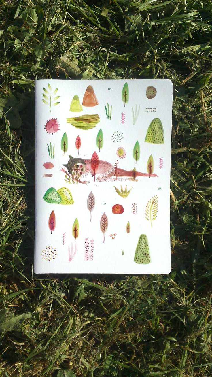 """""""Into the Wild"""" Recycled paper notebook"""