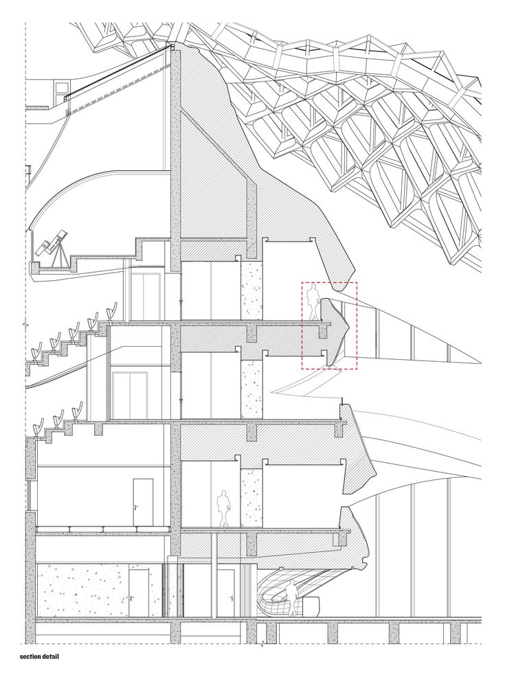 Harbin Opera House Mad Architects Section Through