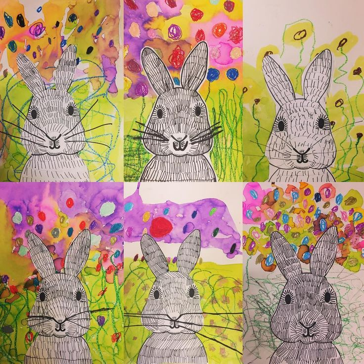Kindergarten Spring bunnies today we discussed spring and then made a mixed media bunny scene. We talked about perspective and how we would need to be crouching and looking into the bunnies face to get this view. Thanks @amazing_art_at_decs for this great idea! #springtime #kindergartenart #kindergarten #teachersfollowteachers #creativekids #teachersofinstagram #ps118mauricesendakcommunityschool #kidsart