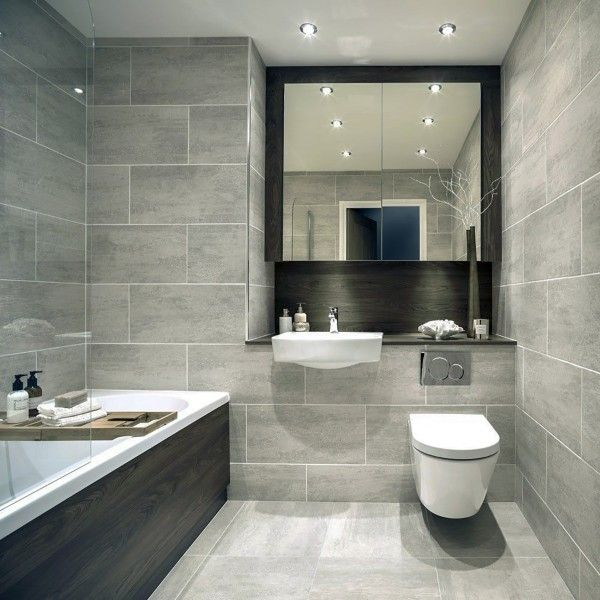 61 3x30 3 Indiana Grey Large Rectangular Tiles Crown Tiles Large Tile Bathroom Modern Bathroom Decor Beige Bathroom