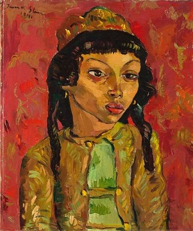 Portrait of a Malay child by Irma Stern