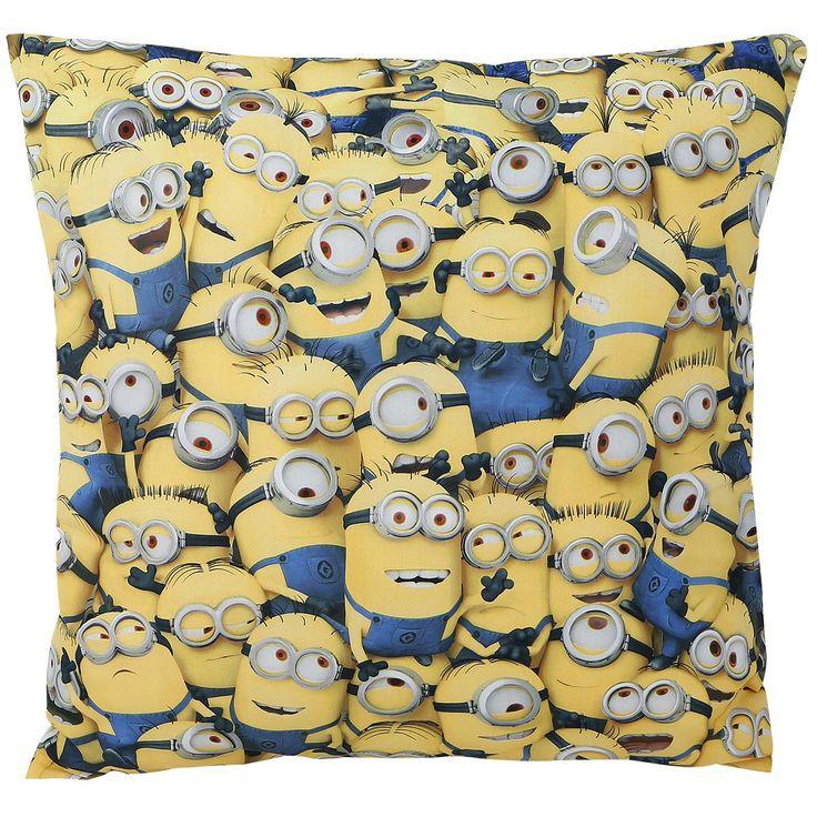 Cuscino dei #Minions con stampa allover. Dimensioni: 40 x 40 cm circa.