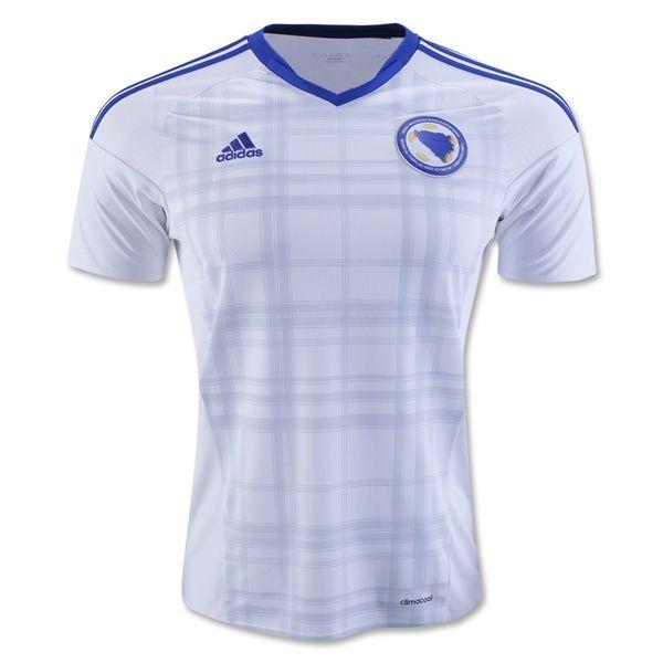 2016 European Cup Bosnia and Herzegovina Away White Soccer Jersey AAA