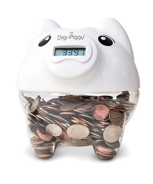 oh my goodness it tells you how much you have in your piggy bank