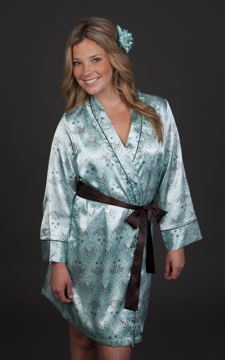Beautiful Satin Robe in Mint AU$84 | FREE Delivery at Red Wrappings