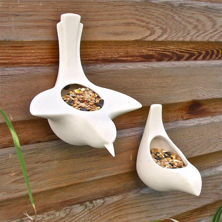 porcelain bird feeder by london garden trading   notonthehighstreet.com