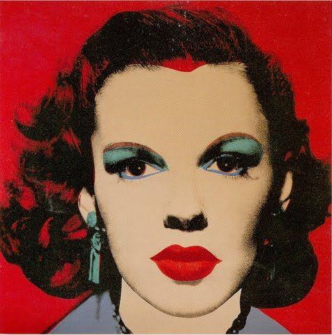 """Three Images Of Judy Garland By Andy Warhol - Vibrant Silkscreen #art"""
