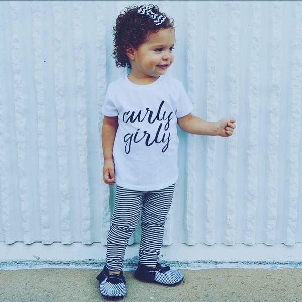 Curly Girly / Curly hair girls shirt / Curly hair baby + toddler / Curl collection tees / #shopsmall #curlyhair #curls #kidsclothes #babygirltees