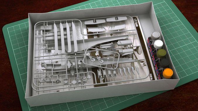 hobby plastic Model kit helicopter | 3D Model