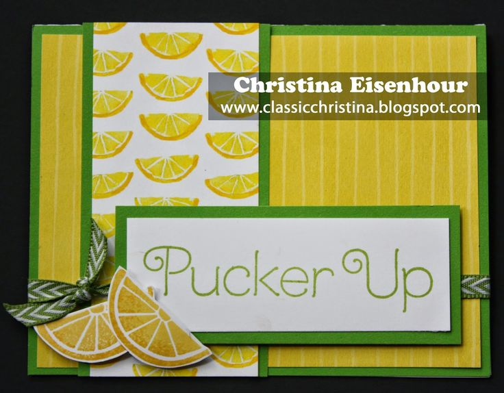 Card made with CTMH Taste of Summer paper pack and stamp set