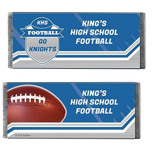 Hershey's Chocolate Football Spirit Personalized Candy Bars