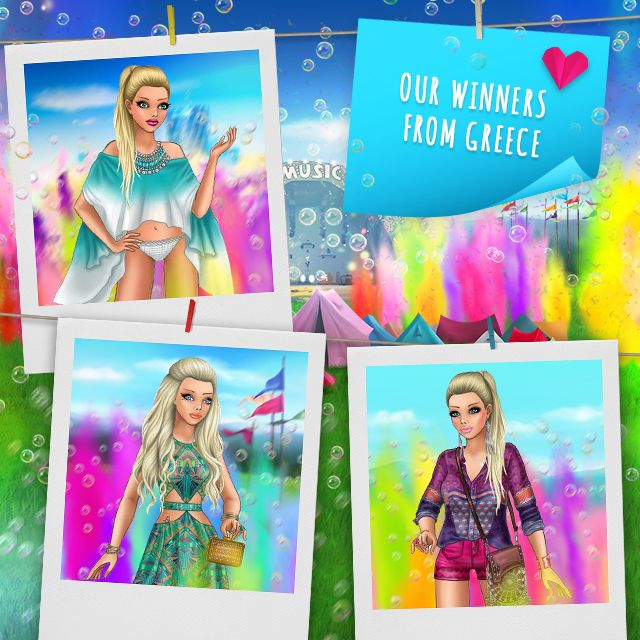Color festival + mini collection Pose with Style winners GREECE