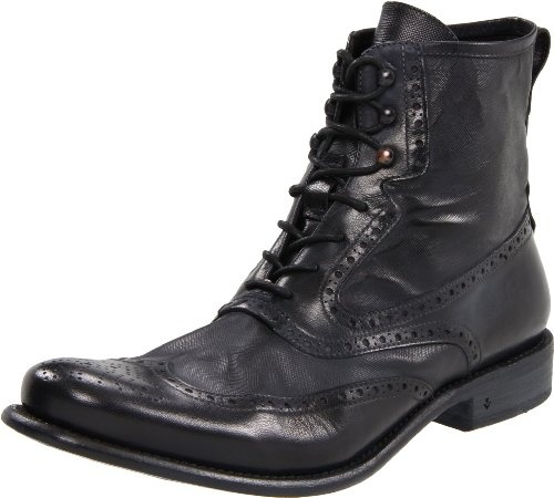 John Varvatos Men's Bowery Spectator Wingtip Boot - DROOL