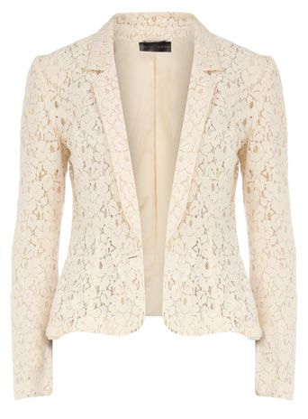 Cream lace blazer: Light Pink Blazers, Cardigans, Cream Lace, Lace Jackets, Clothing, Color, Dorothy Perkins, Love Lace, Lace Blazers