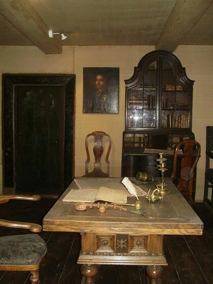 """Interior of the Cabin of Peter the Great. """"AL"""""""